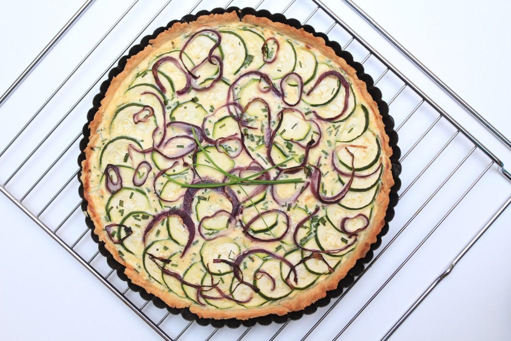 Slaný koláč s cuketou, ricottou