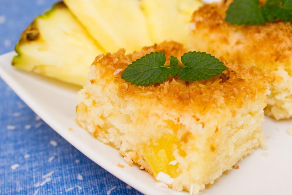Kokosový moučník s ananasem-28