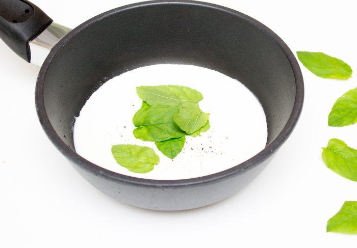 Těstoviny s mátovou omáčkou-1