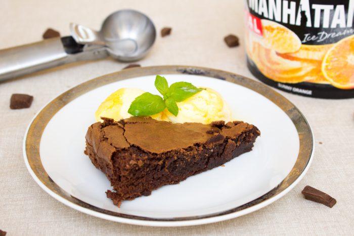 Brownies s pomerančovou zmrzlinou-3