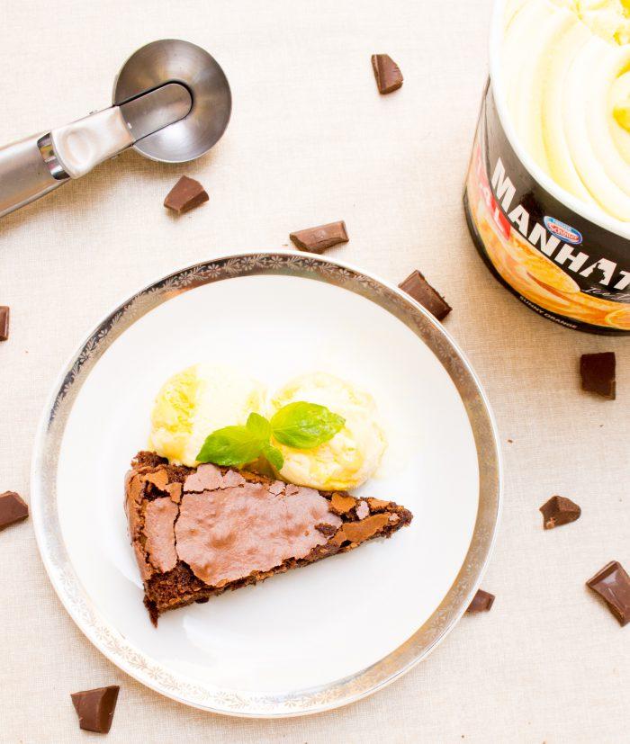 Brownies s pomerančovou zmrzlinou-4