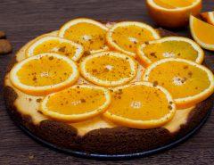 Pomerančový tvarohový koláč