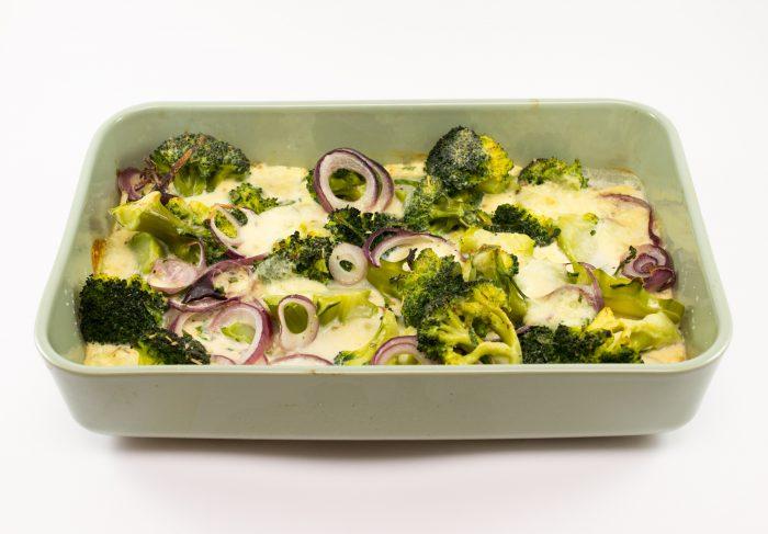 Zapečená brokolice s mozzarellou-1