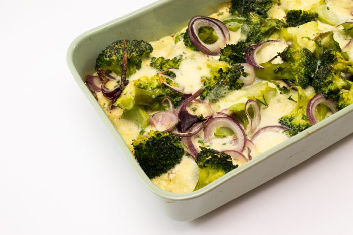 Zapečená brokolice s mozzarellou-2