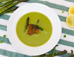 Chřestovo-hrášková polévka-3