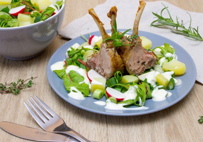 Jehněčí kotlety se salátem-2