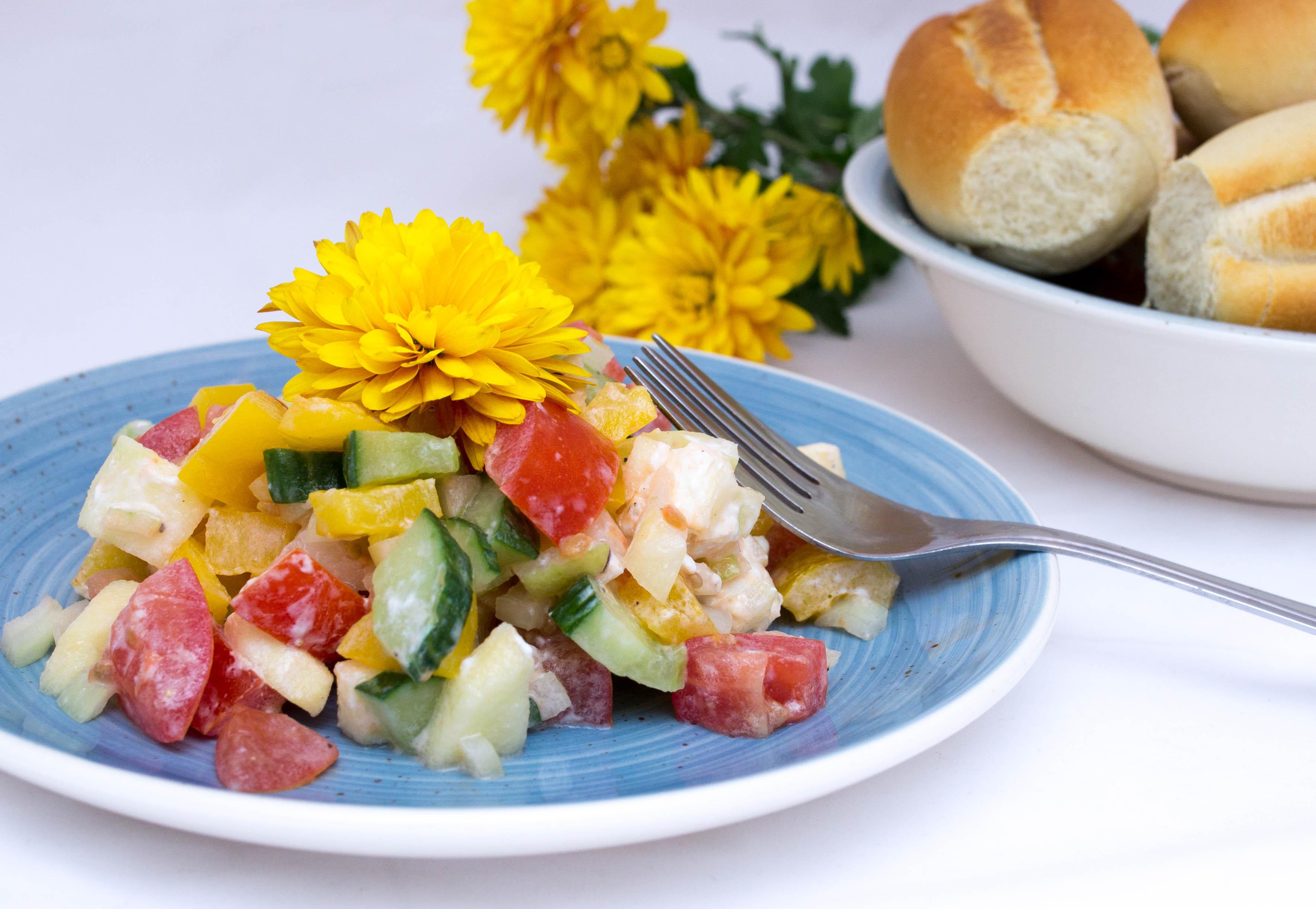 Salát s kozím sýrem-1